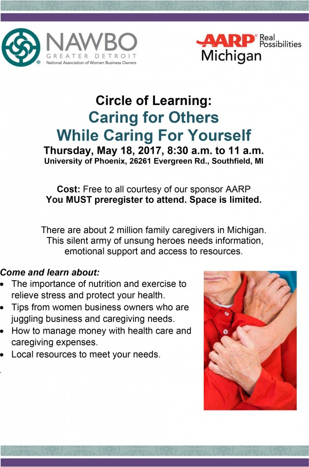 Caregiver workshop flyer