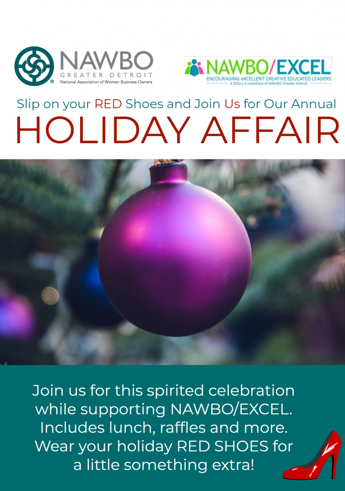 Slip on your Red Shoes and Join NAWBO at its Annual Holiday Reception.